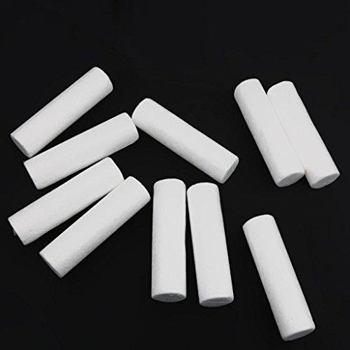 yotijar 10 piezas de cilindro de poliestireno expandido para modelado de color blanco.