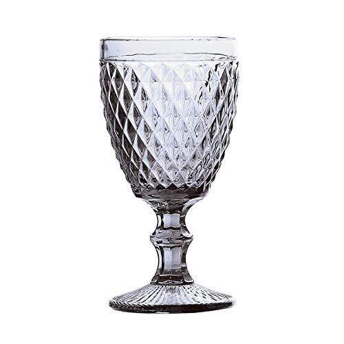 Conjunto deunto 6 Taças para Água Bico de Abacaxi Lyor Transparente 260 ml Vidro