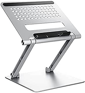 Laptop Stand Adjustable Laptop Stand Foldable Holder for Notebook Tablet Support Accessories (Color : Silver)