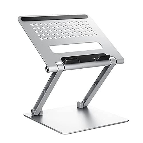 Soporte de computadora portátil Soporte para computadora portátil Ajustable para computadora portátil Tablet Support Accesorios (Color : Silver)