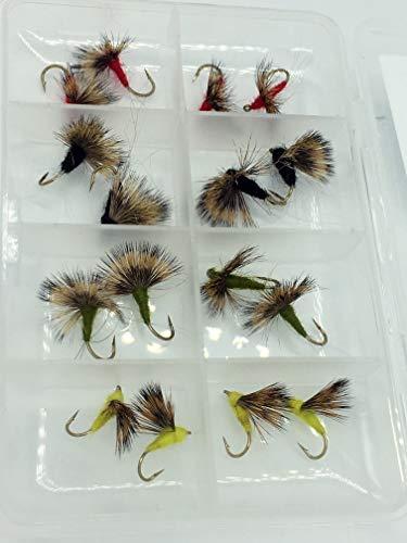 Pesca con mosca COMPARANDUN para moscas secas 16unidades + free Fly caja Pack # 311,