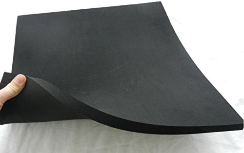 Zellkautschuk, Moosgummi Polster Motorradsitz Höcker, schwarz, ca. 50 x 50 x 1 cm