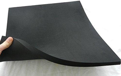 (39,96 €/m ²) Zellkautschuk,ca. 50 x 50 x 1 cm, Moosgummi Polster Motorradsitz Höcker, schwarz