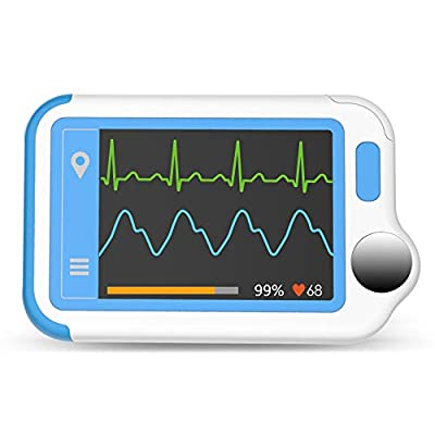 Wellue Heart Monitor, Bluetooth Health Monitor, Portable Handheld Monitor for Home Use, APP for Phone & PC Software for Fitness and Wellness