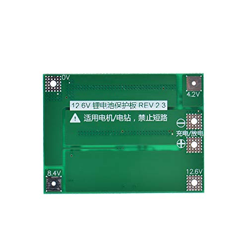 Anmbest Enhanced 3S 11.1V/12V/12.6V 40A 18650 Charger PCB BMS Protection Board Li-ion Lithium Battery Charger Lipo Cell Module for Drill Motor 12.6V