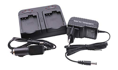 vhbw Cargador Dual Compatible con Samsung BP-85ST batería de cámara - Soporte