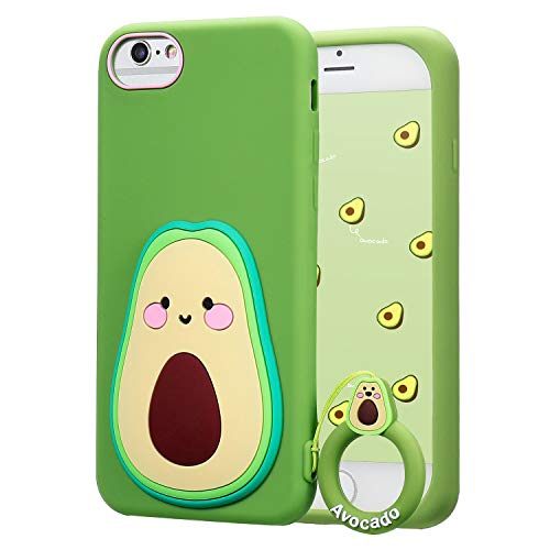 """Coralogo for iPhone 6/7/8/6S/SE 2020 Case,3D Cute Cartoon Funny Fruit Soft Silicone Character Design Skin Kawaii Fashion Cool Fun Cover Cases for Girls Teens Kids iPhone 6/7/8/6S/SE 2020 4.7""""(Avocado)"""