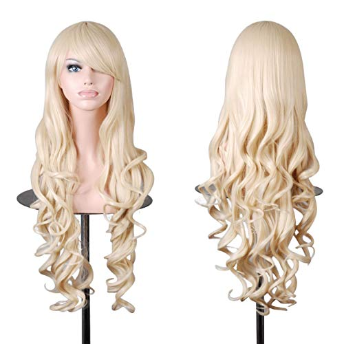 Wavy wig wavy Long hair wig for everyday cosplay or shop window dolls carnival or theme parties, blond, Modell 1