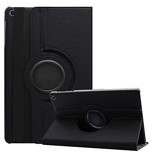 Estuche para Tab S6 Lite de 10.4', MVRYCE Estuche Giratorio de 360° Estuche Delgado con Soporte de Cuero PU Funda Protectora Compatible con Galaxy Tab S6 Lite de 10.4' SM-P610/P615 (Negro)