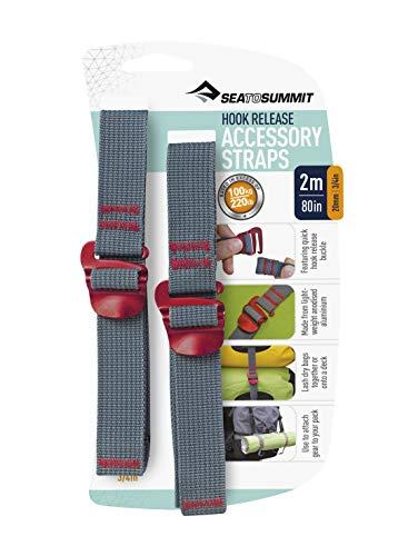 Sea to Summit spanbanden/bagageband Hook Release Straps met snelsluiting