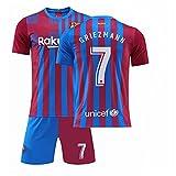 GDYJP Camiseta de fútbol Personalizada 21-22 Camiseta de Barcelona Versión Correcta Messi No. 10 Uniforme de fútbol Traje (Color : Home 7 Star, Tamaño : 26)