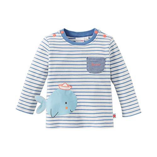 Bornino T-shirt à manches longues baleine top bébé vêtements bébé, écru/bleu