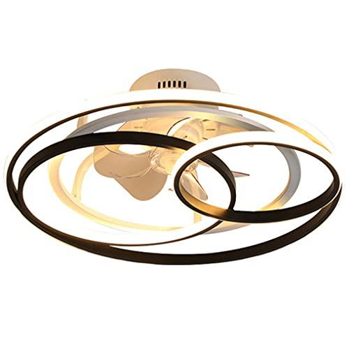 LANMOU Ventilador de Techo Silencioso con Mando a Distancia y Luz, 50W 4500LM LED Luz de Techo Regulable con Control Remoto, Velocidad del Viento Ajustable, Moderno Plafón Ventilador para Dormitorio