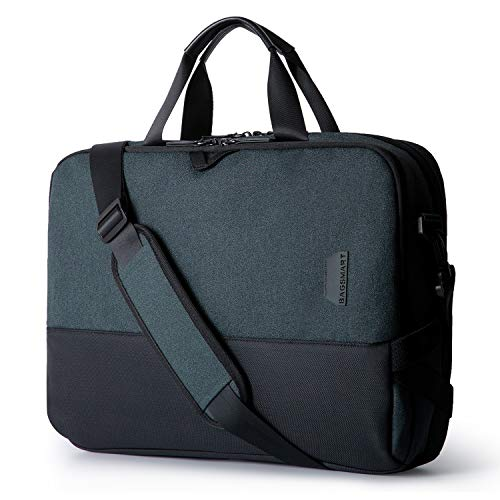 BAGSMART Laptop Messenger Shoulder Bag, Business Briefcase for Men Women, Water Resistant Durable Office Bag Fits 15.6 Inch Laptop, Travel Laptop Bag for Computer Notebook MacBook, Black