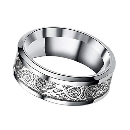 Dragon Ring Stainless Steel Dragon Rings with Dragon Pattern Dragon Ring Jewellery for Men and Women Modeling Accessories
