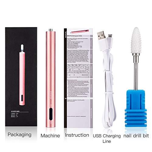 Yaobuyao Elektrische Nagelfräser, Tragbare USB-Elektrische Nagel-Poliermaschine High Speed Low Noise Einstellbare Geschwindigkeit, Für Maniküre-Polier Entladen De-Peeling