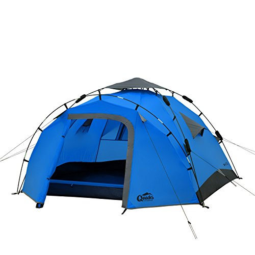 Qeedo Quick Pine 3 Man Dome Tent (Quick Up System) - blue
