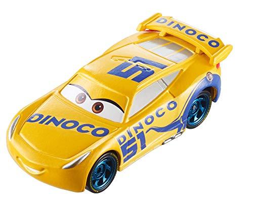 Disney Mattel GDK06 Pixar Cars 3 - Vehículo Dinoco Cruz Ramirez Cambio De Color, Coche De Juguete, Multicolor