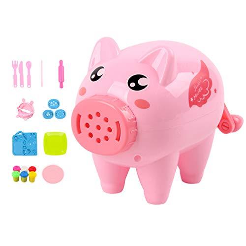 STOBOK máquina máquina de Fideos de Color Arcilla Forma del Cerdo Creativo Fideos Hechos a Mano Fabricante para los niños - 21pcs