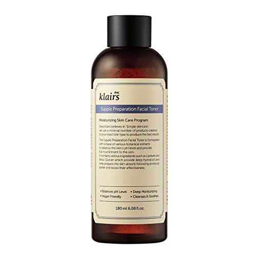 [KLAIRS] Supple Preparation Facial Toner, with Hyaluronic Acid, moisturizer, without paraben and alcohol, 180ml, 6.08oz