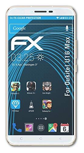 atFolix Schutzfolie kompatibel mit Oukitel U16 Max Folie, ultraklare FX Bildschirmschutzfolie (3X)