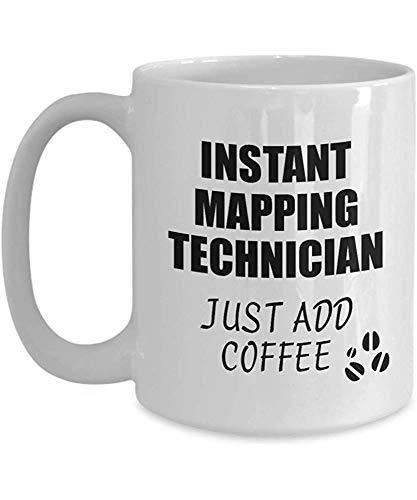 Kartentechniker-Becher-sofortiges addieren gerade Kaffee-lustige Geschenk-Idee für Mitarbeiter-anwesenden Arbeitsplatz-Witz-Büro-Tee-Schale