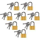 Mini lucchetto con chiave, 8 pezzi Mini lucchetto per valigia adatto per valigie Borsoni, armadietti e agende, lucchetto per bagagli è dotato di 3 chiavi e piccolo lucchetto per bagagli