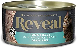 Product Name: Reveal - Grain Free | Wet Canned Cat Food | 2.47oz - 24 Pack - Premium Nutrition, 100% Natural, No Additives, and Limited Ingredients (Tuna Filet)