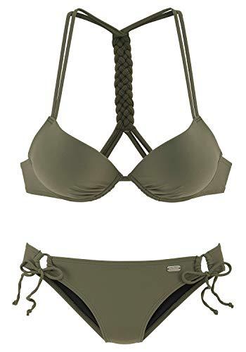 Buffalo Damen Push-up Bikini mit geflochtenem Rückendetail