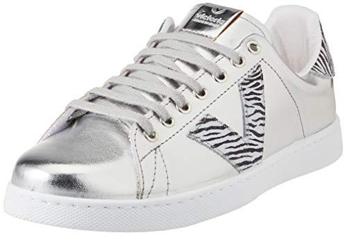 Victoria Tenis Metalizado/Cebra, Zapatillas Unisex Adulto, Plateado, 42 EU