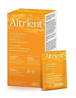 Altrient C - Liposomal Vitamin C - Lypospheric Lypo-Spheric Vitamin C -Vitamin C 1000mg - 30 Sachets