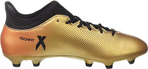 adidas X 17.3 FG, Scarpe da Calcio Uomo, Oro (Gold/Schwarz/Rot Gold/Schwarz/Rot), 43 1/3 EU