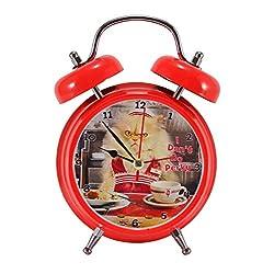 Mark Feldstein & Associates Joy The Cat Don't Do Perky Bright Red 6 x 5 Metal Wacky Waker Alarm Clock