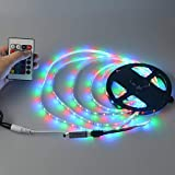 5 Meter Waterproof RGB Remote Control LED Strip Light Remote Control-Yes Color Changing- Yes Pack content- 5 Meter LED Strip, 1 Remort, 1 Indian 2 PIn Adopter, 1 Connector with Sensor