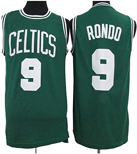 TPPHD Jerseys de Baloncesto para Hombres, NBA Boston Celtics 9# Rondo Classic Swingman Jersey, Vintage Cool Tela Transpirable All-Star Unisex Uniforme,L