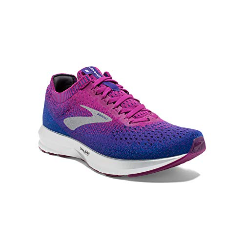 Brooks Womens Levitate 2 Running Shoe - Aster/Purple/Blue - B - 5.0