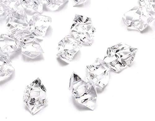 Ayrio 250pcs cristalli acrilici rocce di ghiaccio pietre preziose per riempitivi vaso, dispersione della tabella, favore di partito, decorazione di cerimonia nuziale, arti decorative (cancella)