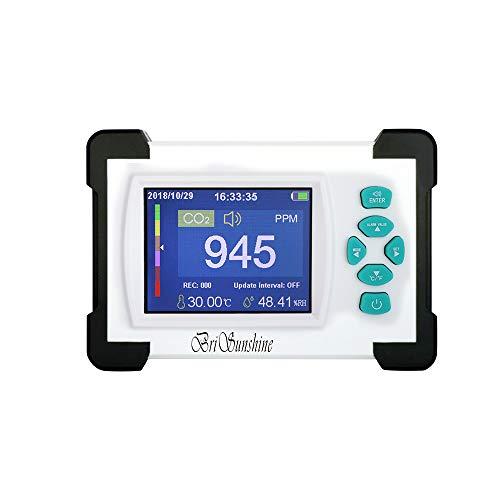 Kohlendioxid Tester Detektor, Tragbares CO2-Messgerät Meter für Luftqualität, Temperatur und Feuchtigkeit