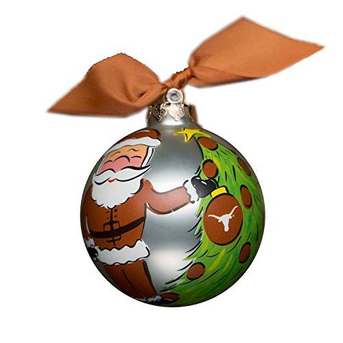 Glory Haus Texas Santa Glass Ornament, 4-Inch
