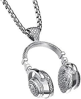 سماعة أذن AC-NL021 لتشغيل الموسيقى من الستانلس ستيل بتصميم قلادة للرجال