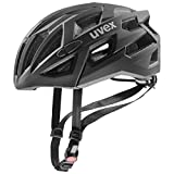 Uvex Race 7 Casco Ciclismo, Unisex Adulto, Black, 56-61 cm