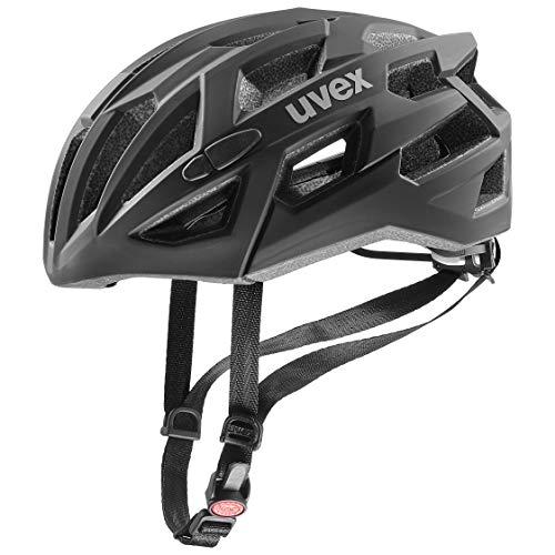 Uvex Unisex– Erwachsene, race 7 Fahrradhelm, black, 55-61 cm