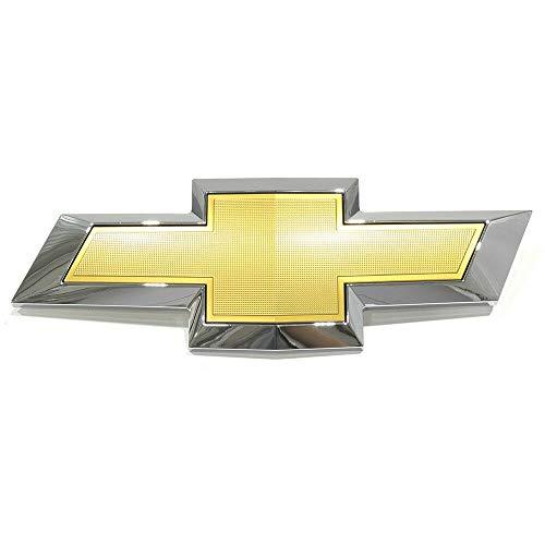 BST4R New Front Bumper Grille Bow Tie ЕmbIеm Gold Chrome 13-14 Traverse 84690300 Super
