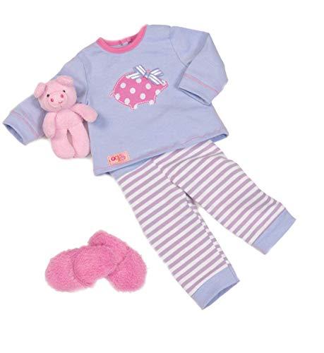 Our Generation BD30062Z 44299 - Outfit - Schlafanzug mit Schweinchen