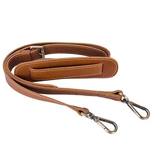 BAIGIO Schultergurt Leder Verstellbar Tragegurt Schulterriemen für Umhängetasche Reisetasche Handtasche Aktentasche (Gelbbraun)