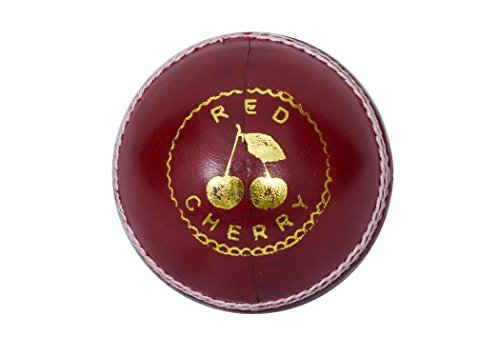 Red Cherry by Kookaburra Leather Cricket Ball, (Red)