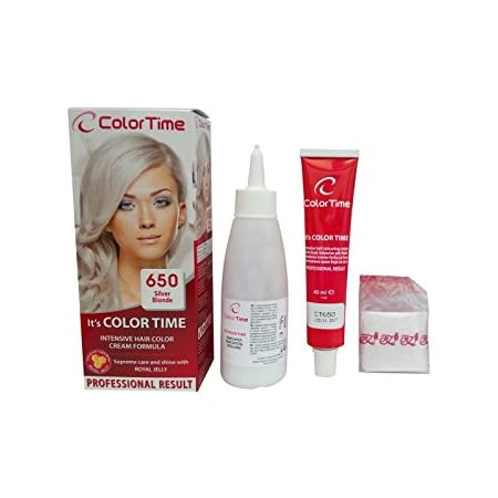Color time, tinte en crema para el cabello de color rubio plata 650