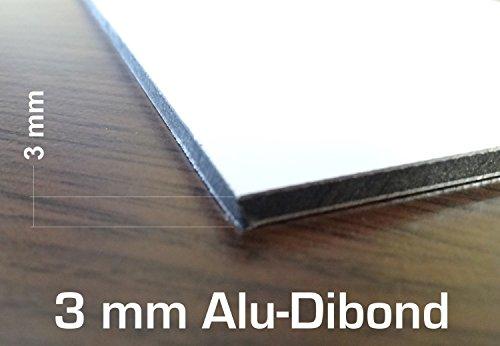 3mm blanco ACM hoja 300x 200mm en aluminio Dibond diseño de panel compuesto de hoja