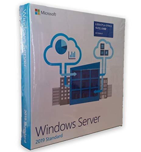 日本マイクロソフト Microsoft Windows Server Standard 2019 64Bit Japanese DVD 5 Client 16 Core License