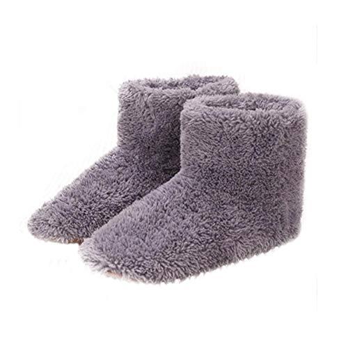 USB Elektrische warme Schuhe Beruhigende, entspannende Heizung Schuhe Warm Foot Supplies - Paar warme Schuhe Plüsch USB beheizte Hausschuhe